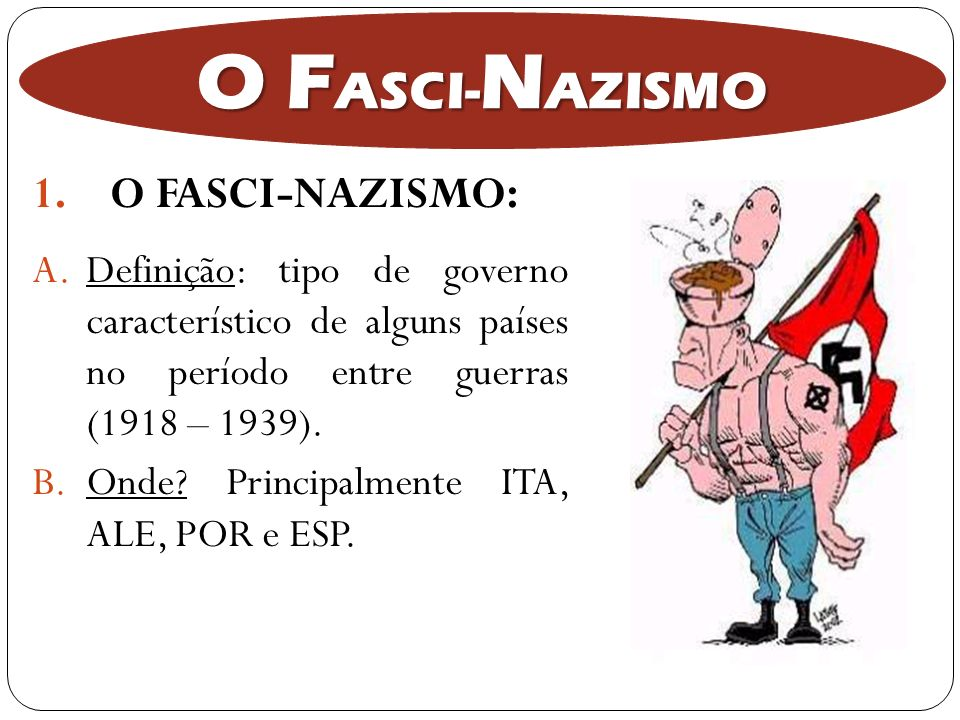 O FASCI-NAZISMO O FASCI-NAZISMO: