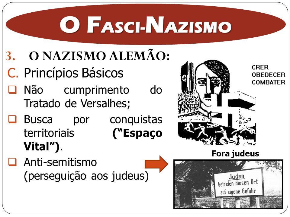 O FASCI-NAZISMO O NAZISMO ALEMÃO: Princípios Básicos