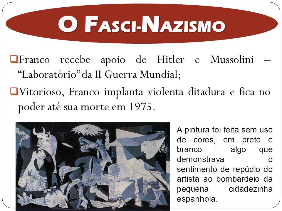 O FASCI-NAZISMO Franco recebe apoio de Hitler e Mussolini – Laboratório da II Guerra Mundial;