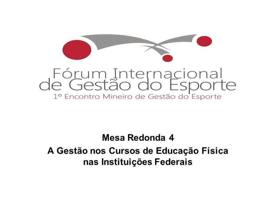 A Gestão nos Cursos de Educação Física nas Instituições Federais