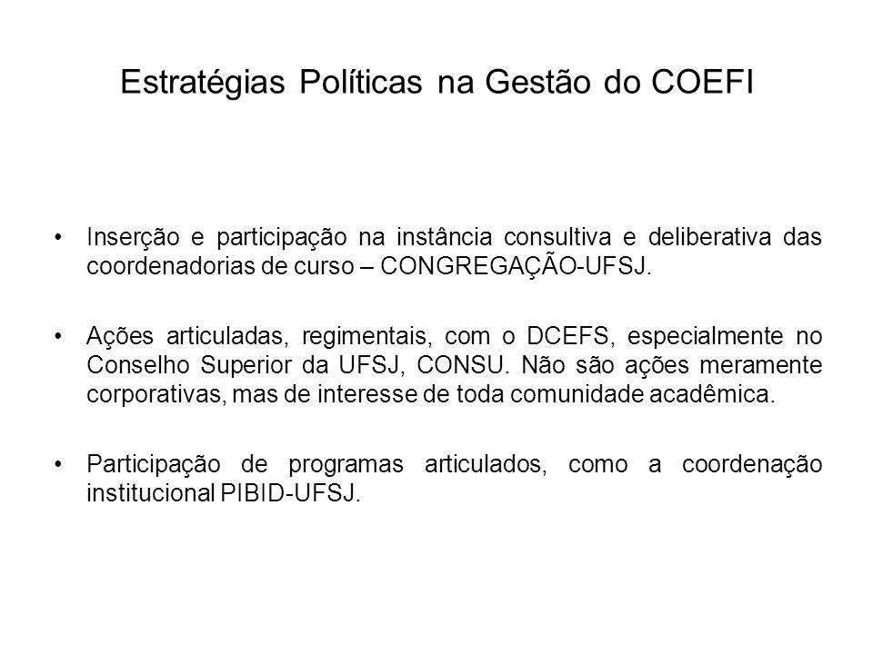 Estratégias Políticas na Gestão do COEFI