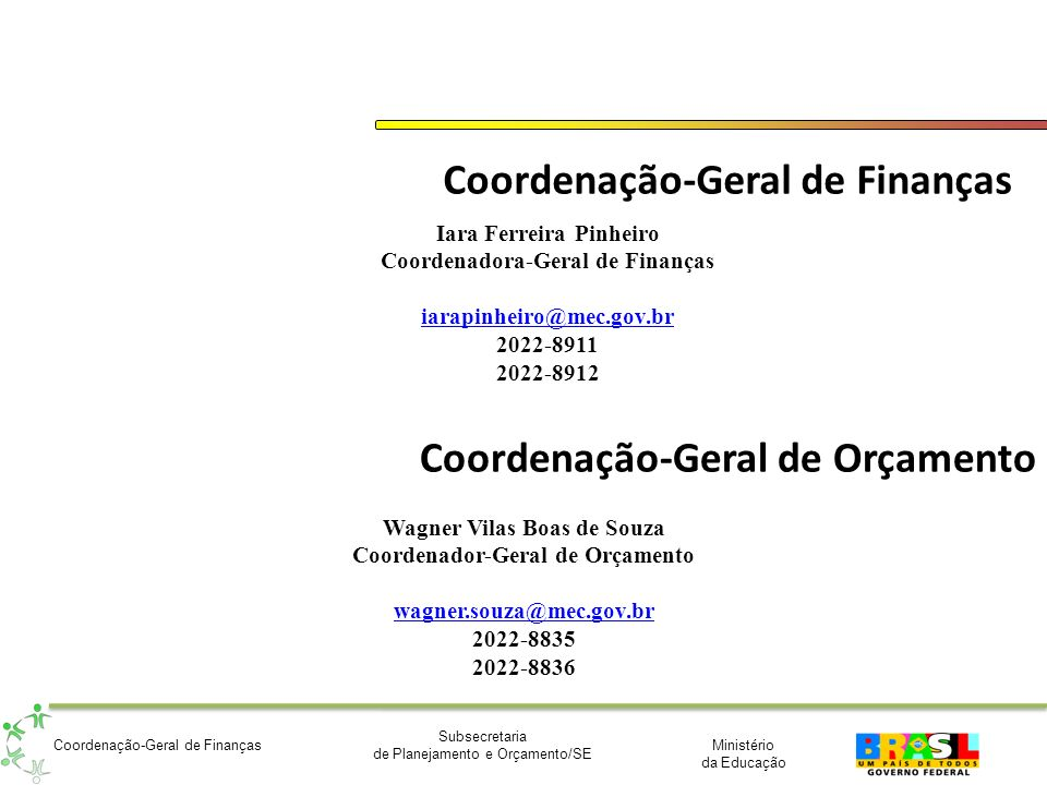 Coordenação-Geral de Finanças