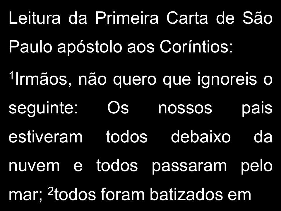 Leitura da Primeira Carta de São Paulo apóstolo aos Coríntios: