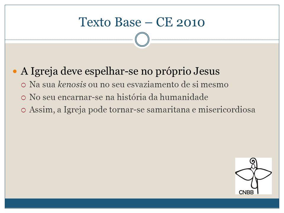 Texto Base – CE 2010 A Igreja deve espelhar-se no próprio Jesus