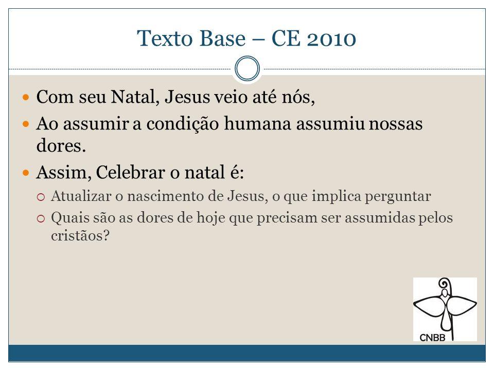 Texto Base – CE 2010 Com seu Natal, Jesus veio até nós,