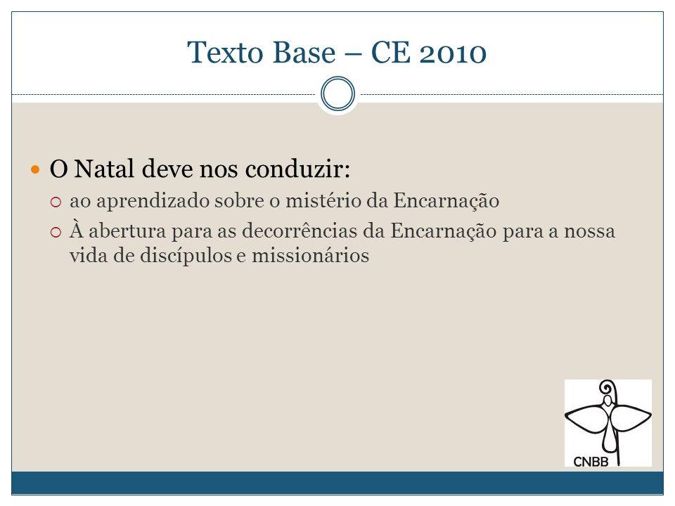 Texto Base – CE 2010 O Natal deve nos conduzir: