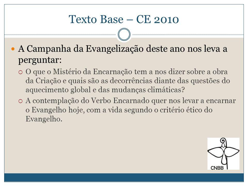 Texto Base – CE 2010 A Campanha da Evangelização deste ano nos leva a perguntar: