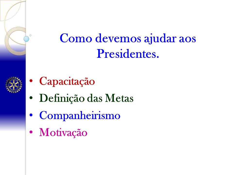 Como devemos ajudar aos Presidentes.