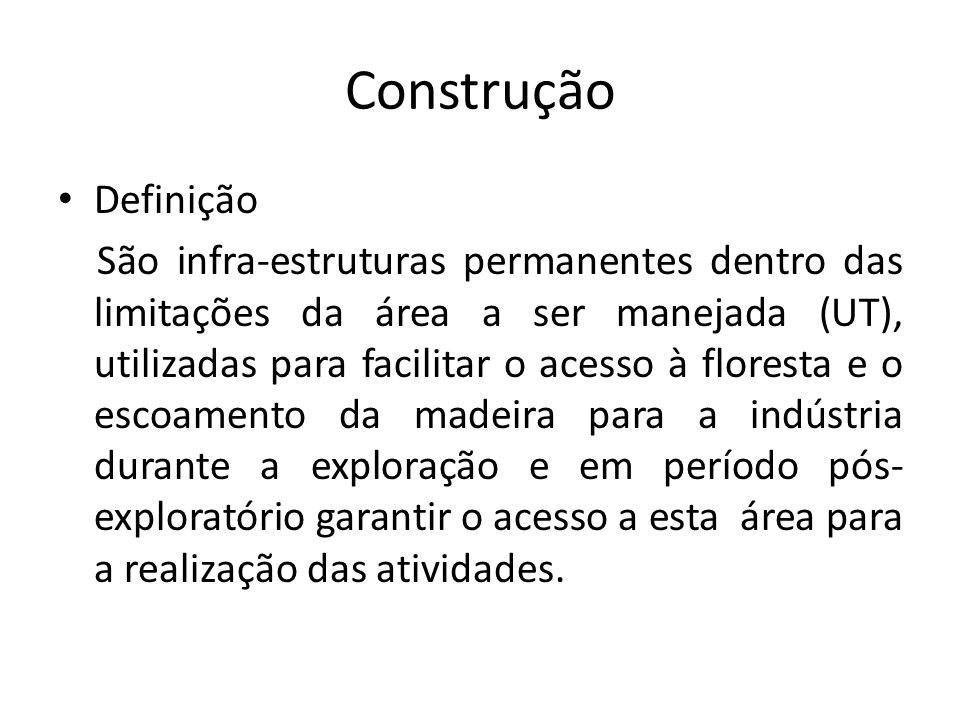 Construção Definição.