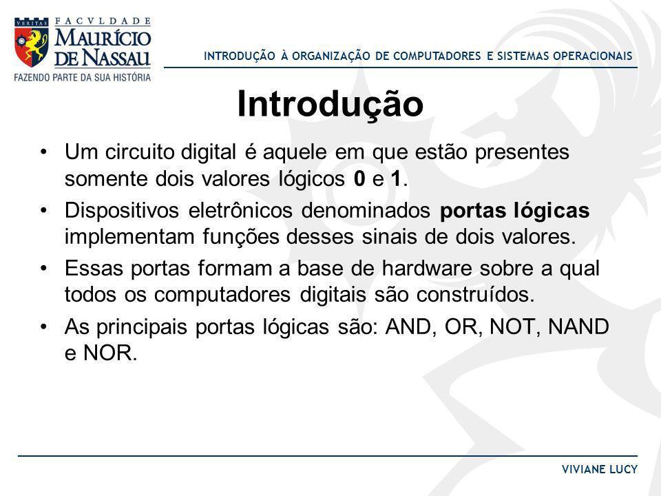 IntroduçãoUm circuito digital é aquele em que estão presentes somente dois valores lógicos 0 e 1.
