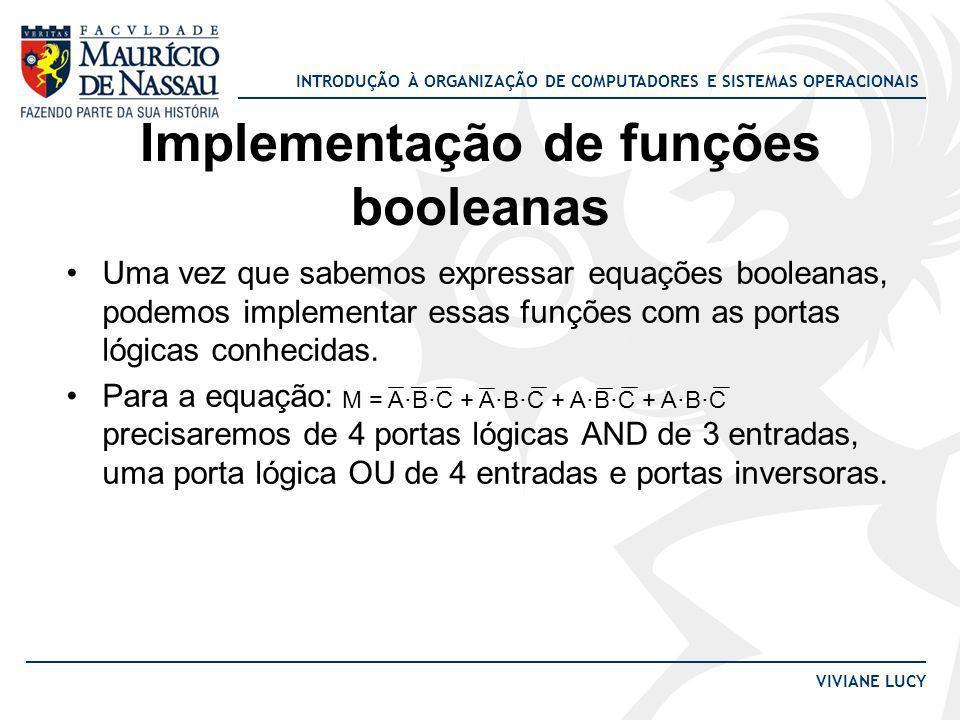 Implementação de funções booleanas