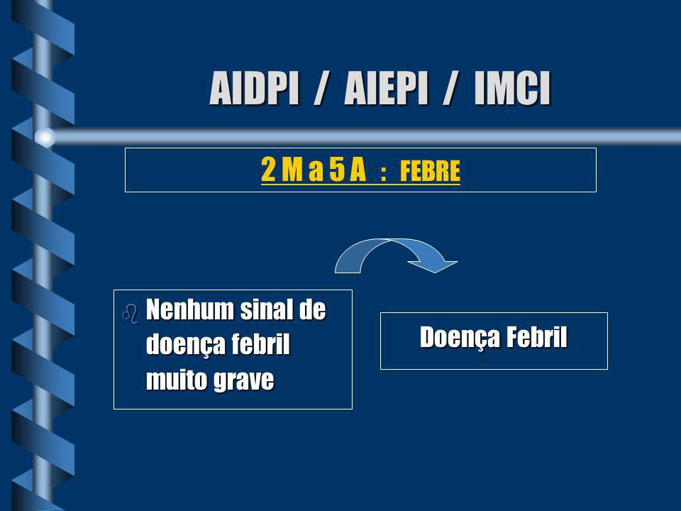 AIDPI / AIEPI / IMCI 2 M a 5 A : FEBRE