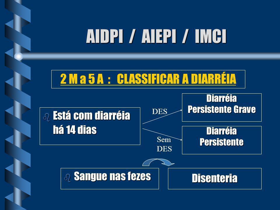 2 M a 5 A : CLASSIFICAR A DIARRÉIA