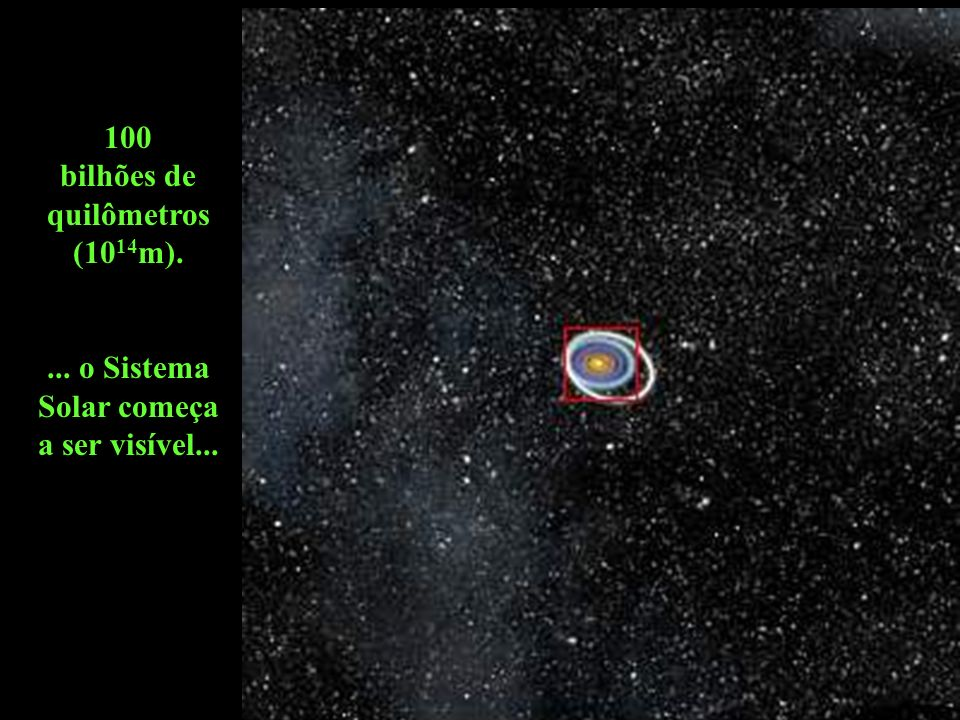 100 bilhões de quilômetros (1014m).