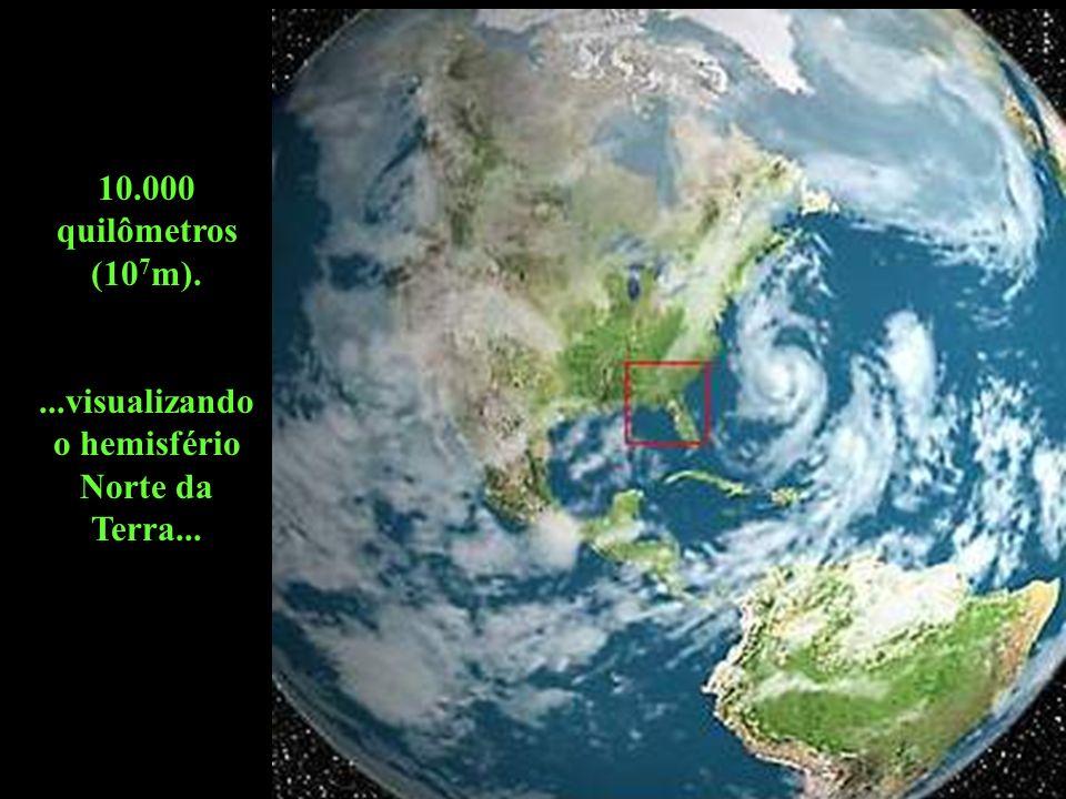 ...visualizando o hemisfério Norte da Terra...