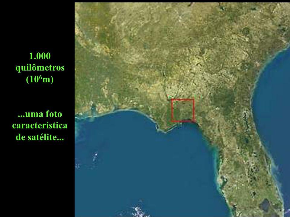 ...uma foto característica de satélite...