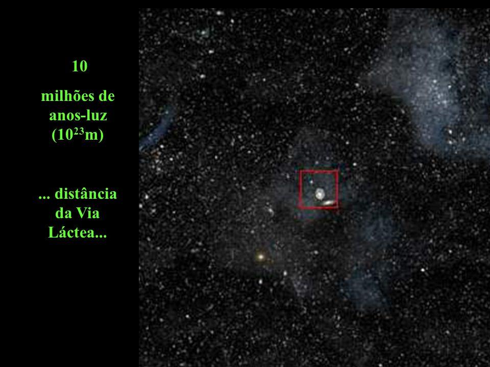 milhões de anos-luz (1023m) ... distância da Via Láctea...