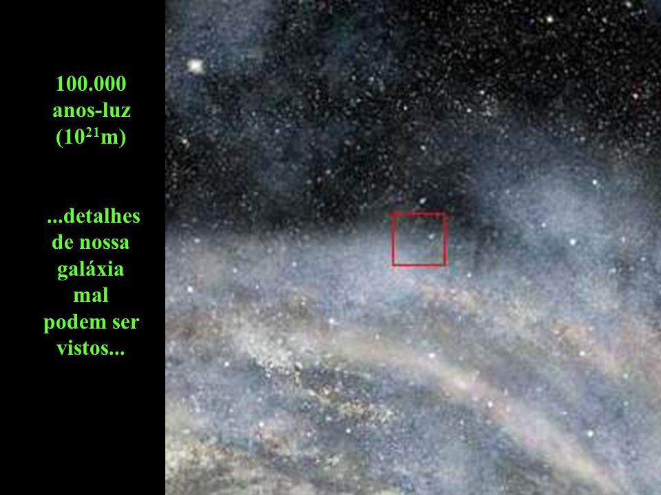 ...detalhes de nossa galáxia mal podem ser vistos...