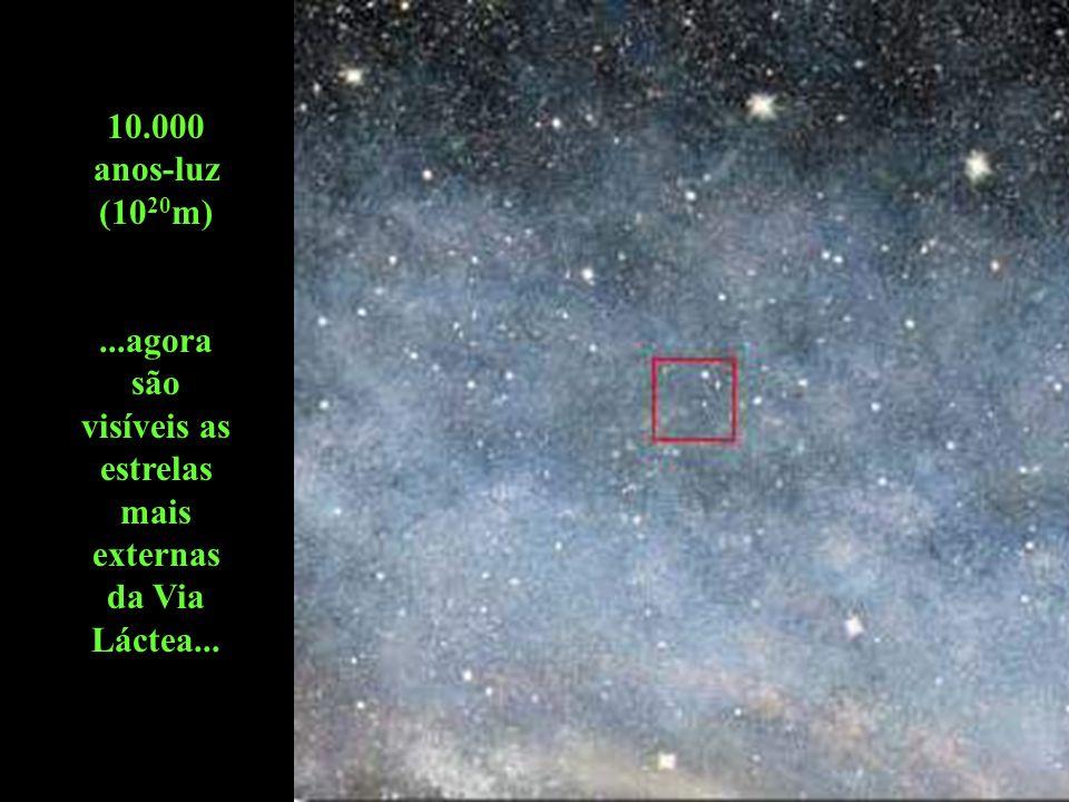 ...agora são visíveis as estrelas mais externas da Via Láctea...
