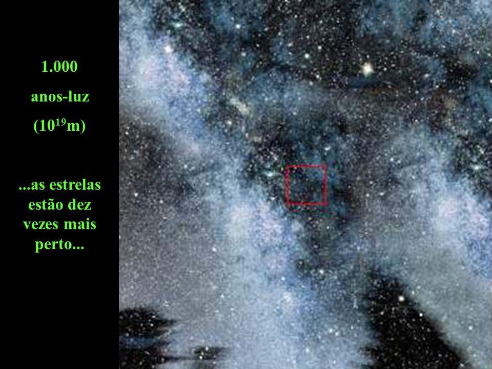 ...as estrelas estão dez vezes mais perto...