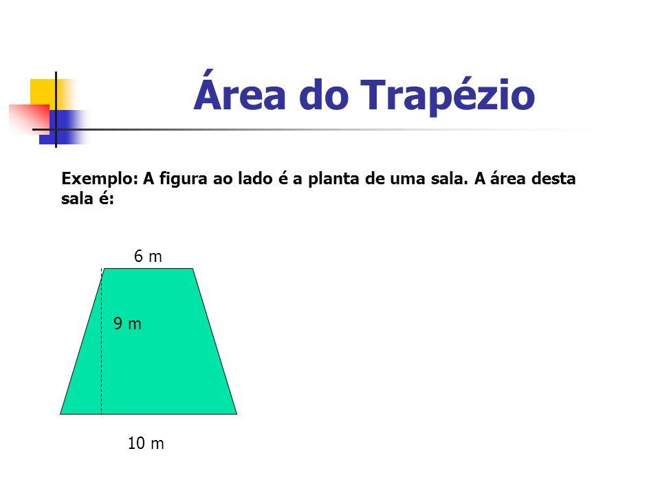 Área do TrapézioExemplo: A figura ao lado é a planta de uma sala.