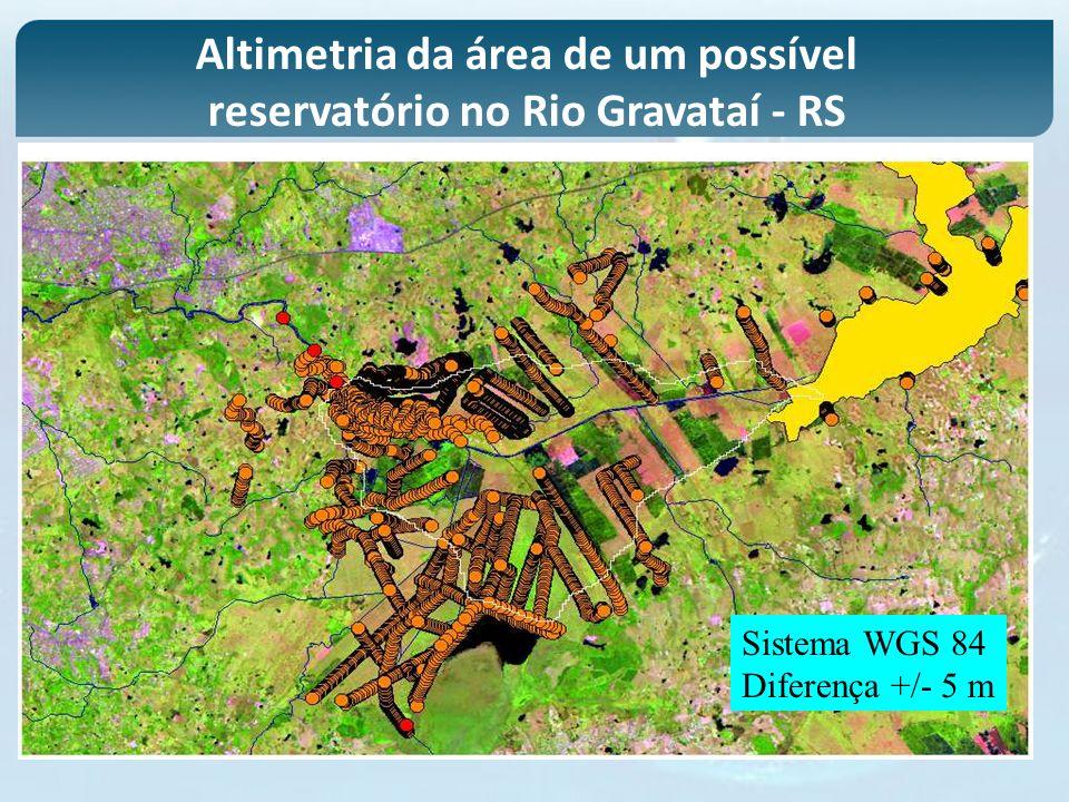 Altimetria da área de um possível reservatório no Rio Gravataí - RS