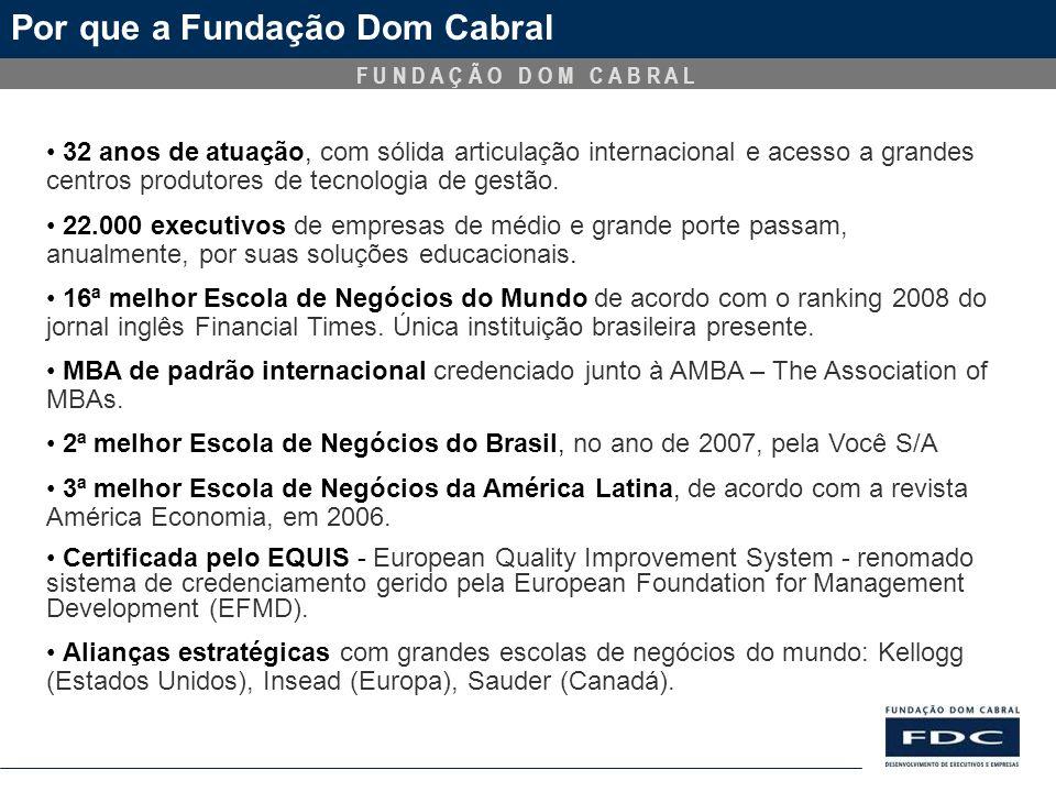 Por que a Fundação Dom Cabral
