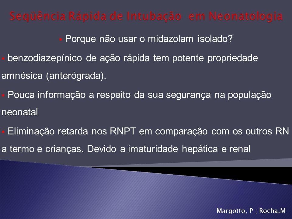 Seqüência Rápida de Intubação em Neonatologia