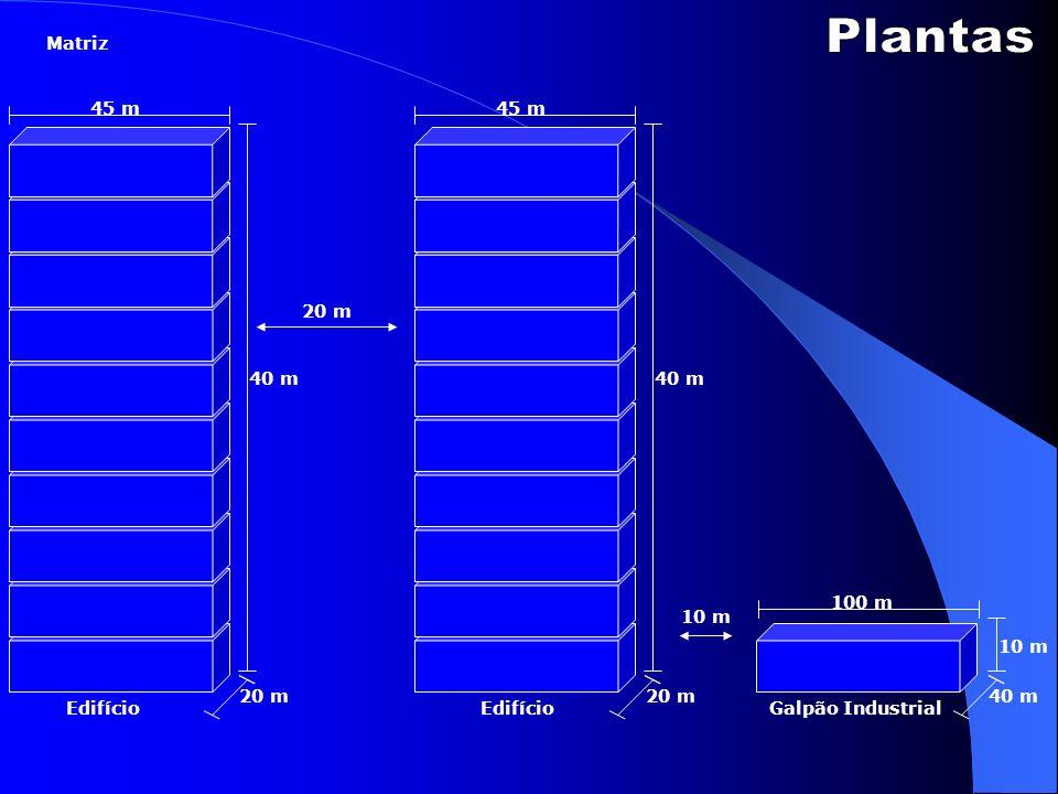 Plantas Matriz 45 m 45 m 20 m 40 m 40 m 100 m 10 m 10 m 20 m 20 m 40 m