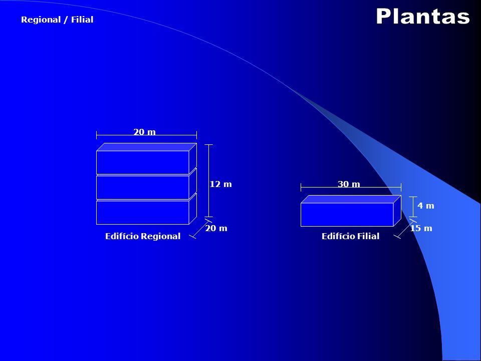 Plantas Regional / Filial 20 m 12 m 30 m 4 m 20 m 15 m