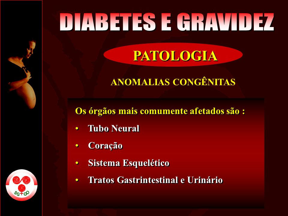 DIABETES E GRAVIDEZ PATOLOGIA ANOMALIAS CONGÊNITAS