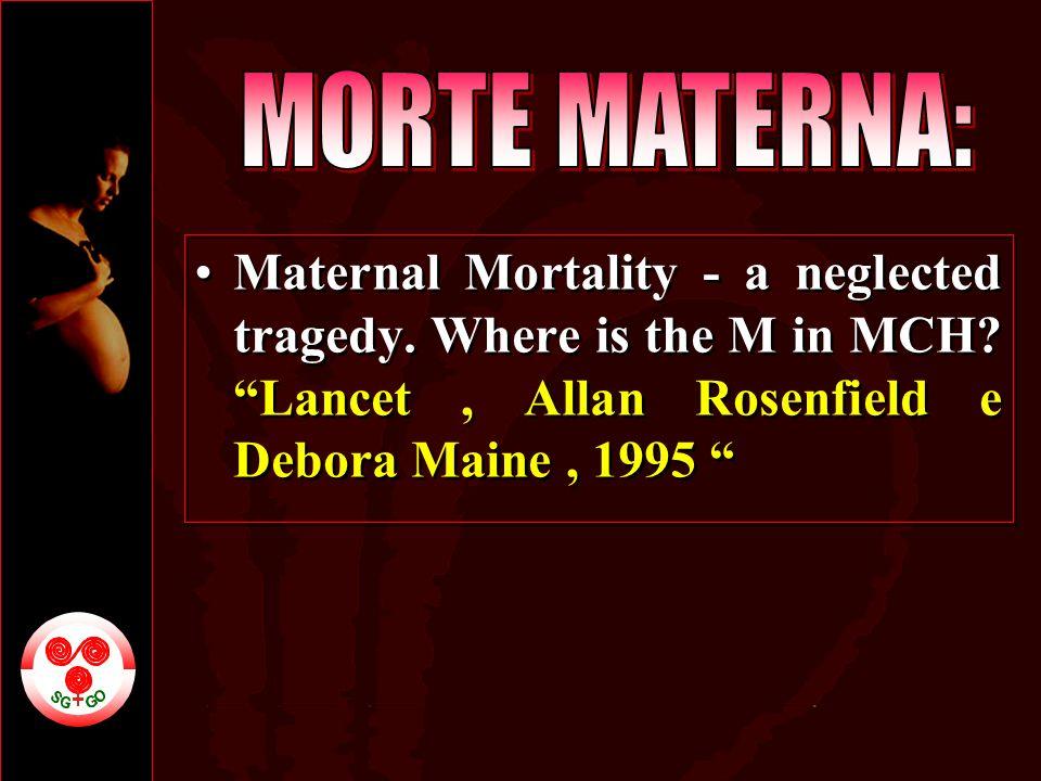 MORTE MATERNA:Maternal Mortality - a neglected tragedy.