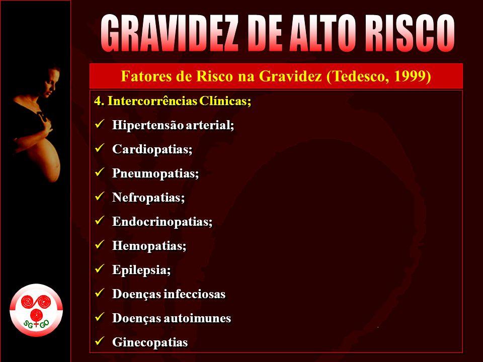 Fatores de Risco na Gravidez (Tedesco, 1999)