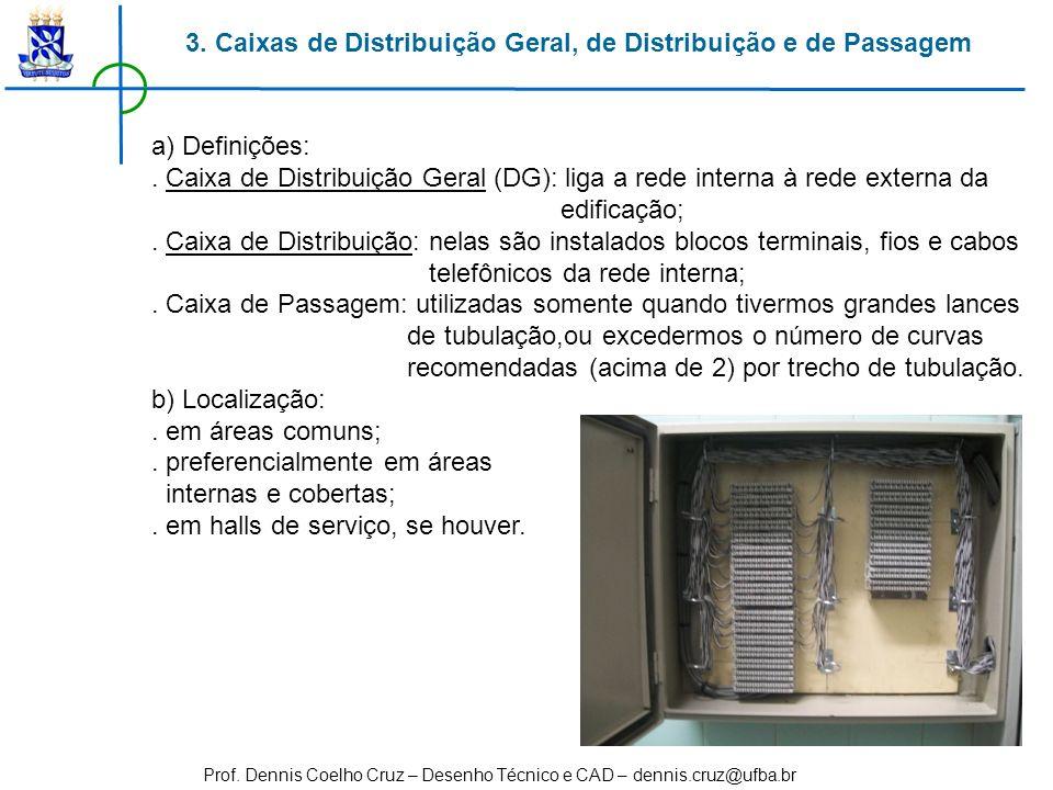 3. Caixas de Distribuição Geral, de Distribuição e de Passagem