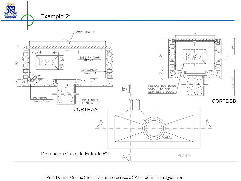 Exemplo 2: CORTE BB CORTE AA Detalhe da Caixa de Entrada R2