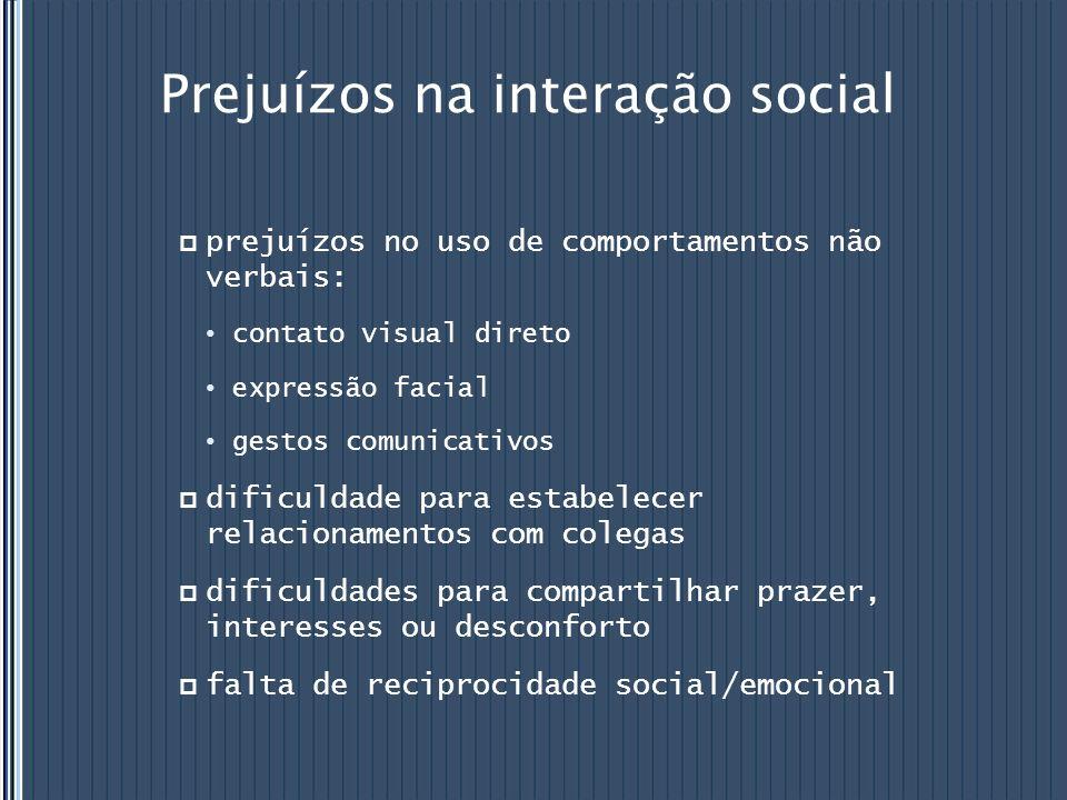 Prejuízos na interação social