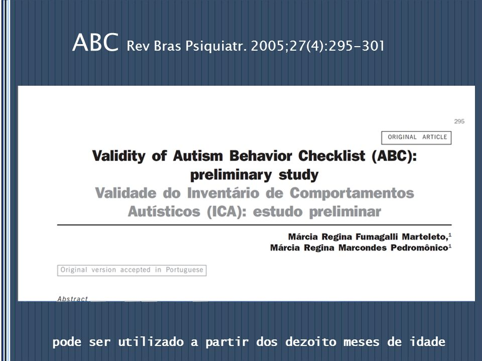 ABC Rev Bras Psiquiatr. 2005;27(4):295-301