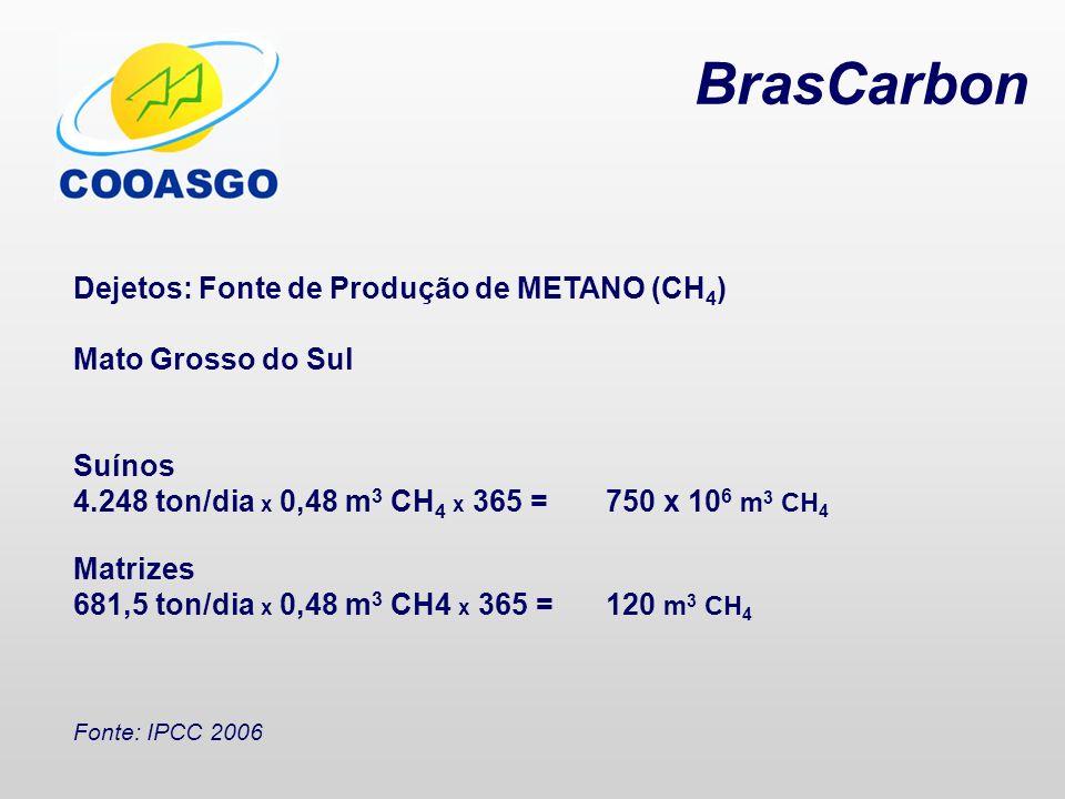 BrasCarbon Dejetos: Fonte de Produção de METANO (CH4)