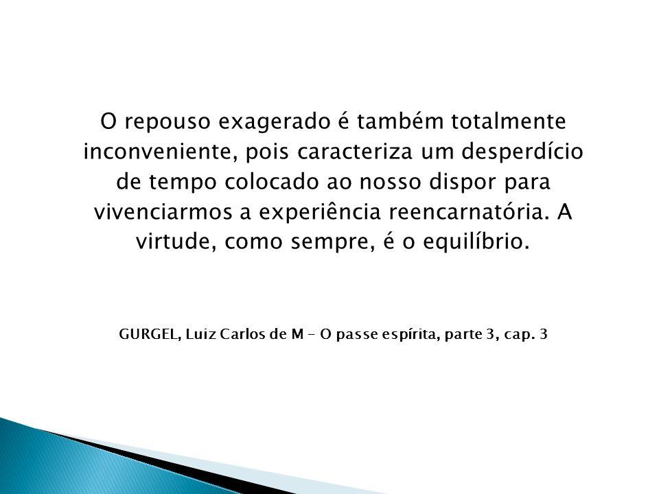 GURGEL, Luiz Carlos de M – O passe espírita, parte 3, cap. 3