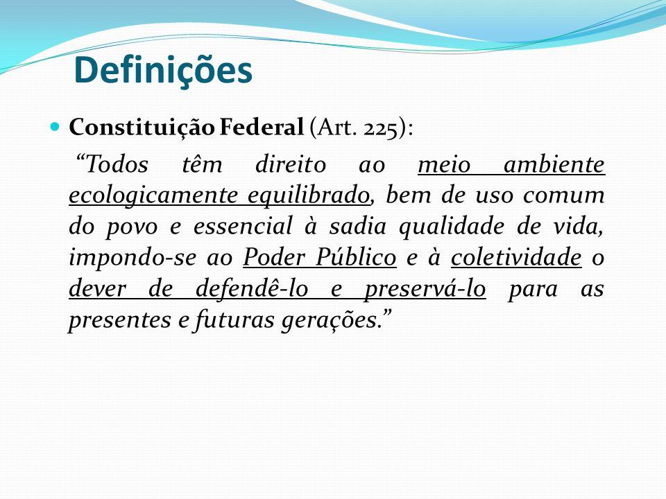 Definições Constituição Federal (Art. 225):