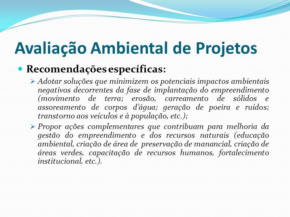 Avaliação Ambiental de Projetos