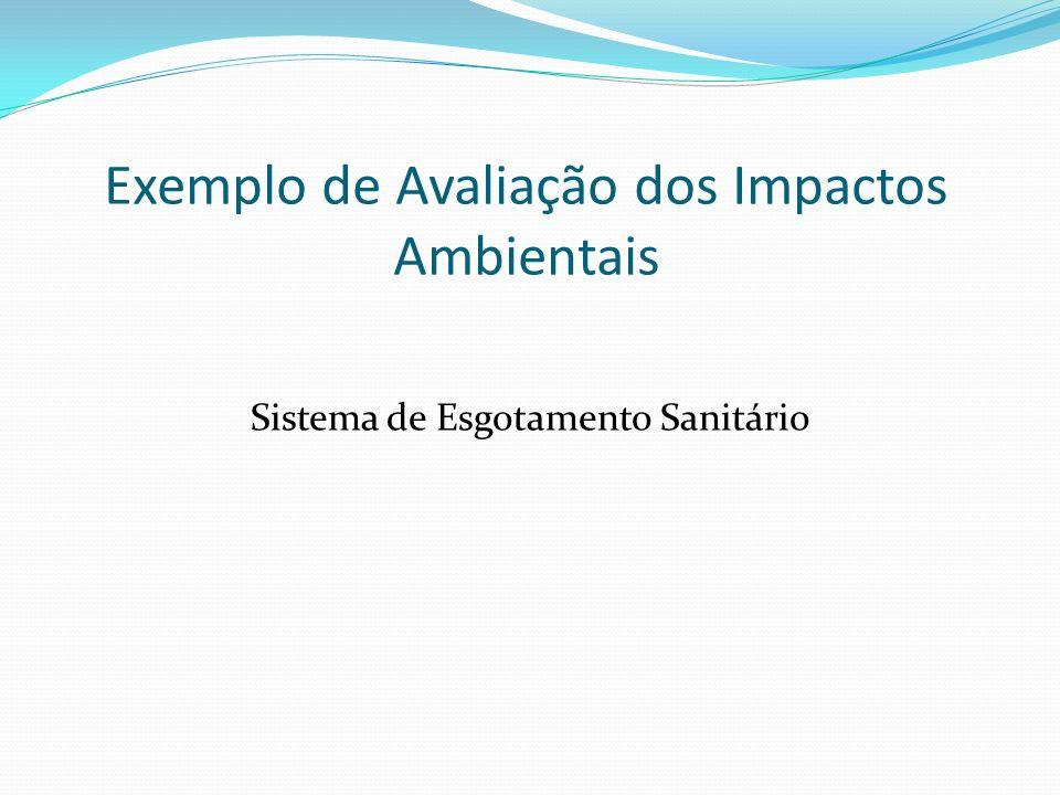 Exemplo de Avaliação dos Impactos Ambientais