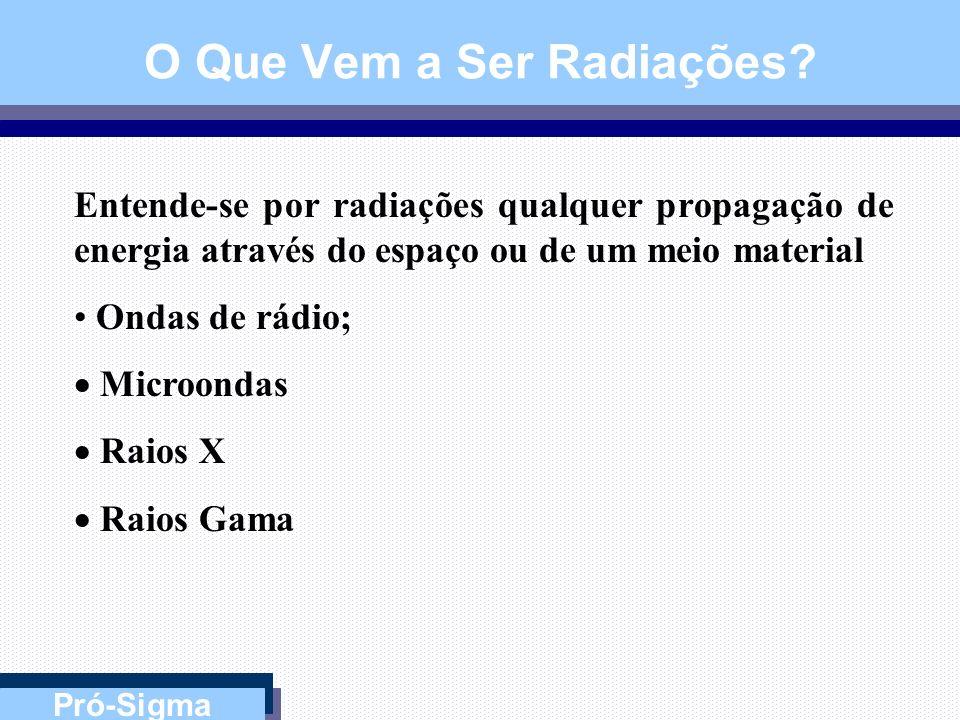 O Que Vem a Ser Radiações