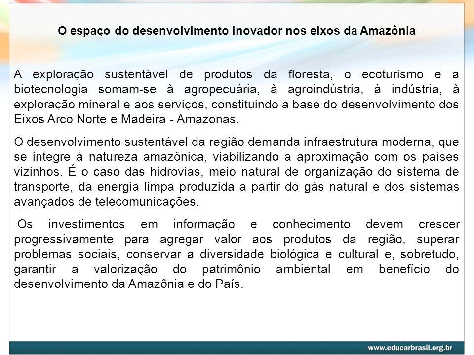 O espaço do desenvolvimento inovador nos eixos da Amazônia