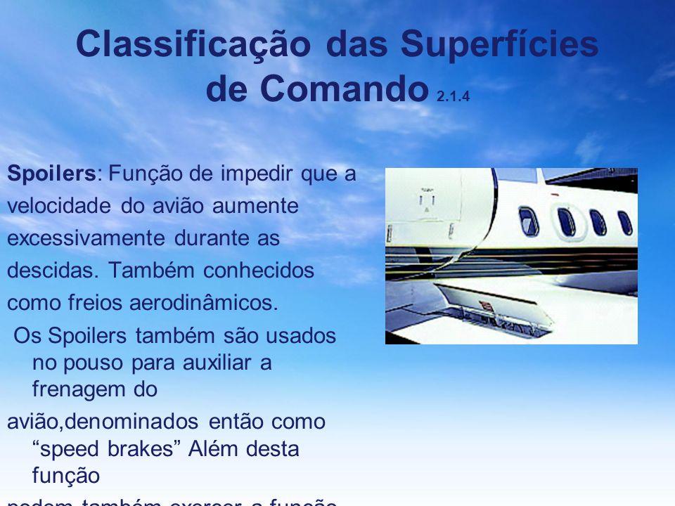 Classificação das Superfícies de Comando 2.1.4