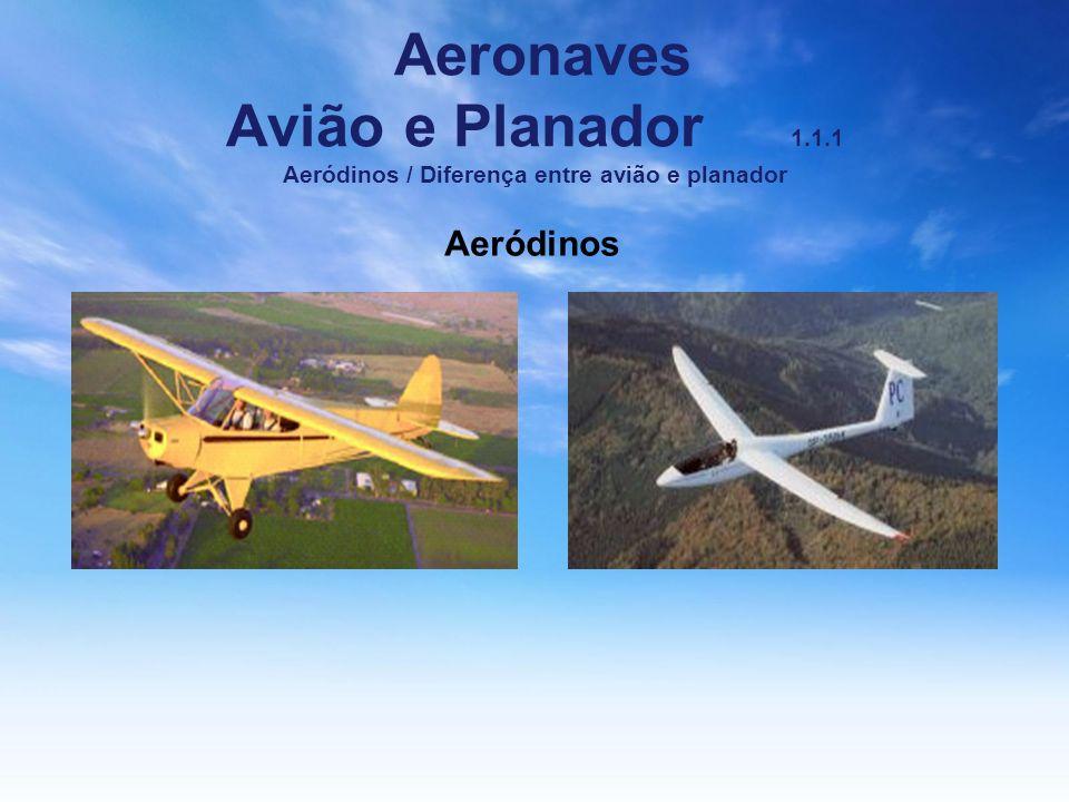 Aeronaves Avião e Planador 1. 1