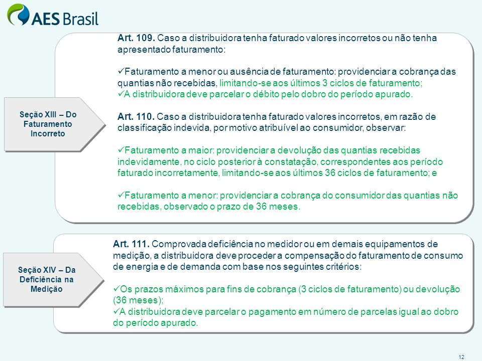 A distribuidora deve parcelar o débito pelo dobro do período apurado.