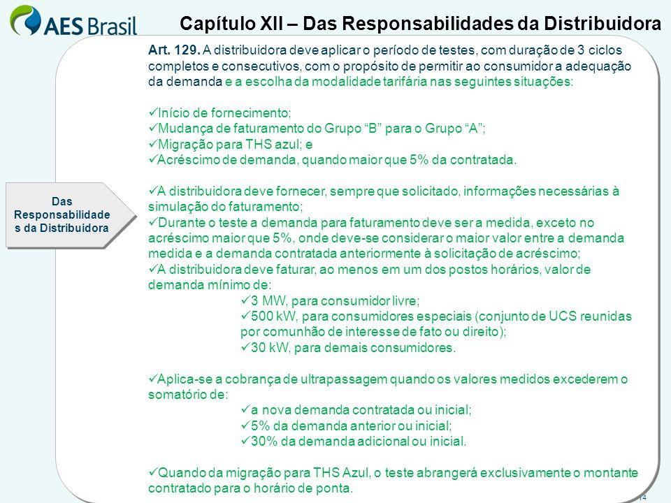 Das Responsabilidades da Distribuidora