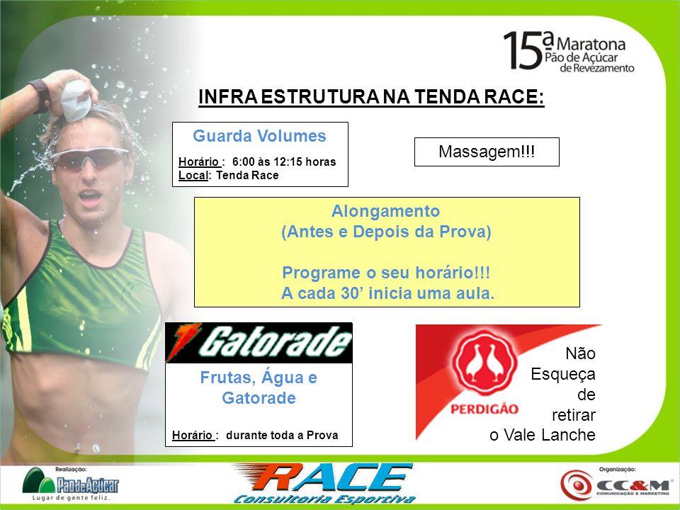 INFRA ESTRUTURA NA TENDA RACE: (Antes e Depois da Prova)