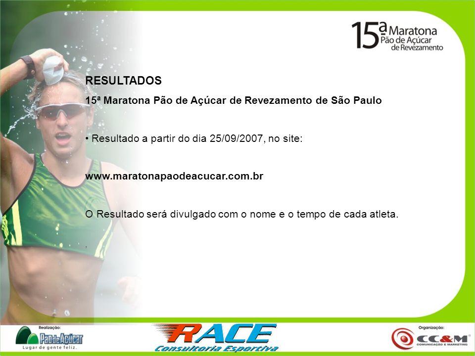 RESULTADOS 15ª Maratona Pão de Açúcar de Revezamento de São Paulo